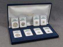 THE BINION COLLECTION LOT (2) UNCIRCULATED TYPE SETS #83/2500 & #731/2500 (4 COINS EACH) CASED