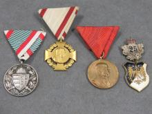 LOT (4) ASSORTED IMPERIAL GERMAN MEDALS INCLUDING KAISER WILHELM COMMEMORATIVES; 25-YEAR SERVICE, ETC