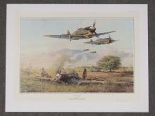 ROBERT TAYLOR (BRITISH 1946-), WWII AVIATION OFFSET LITHOGRAPH,