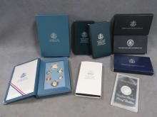 LOT (8) INCLUDING 1987 PRESTIGE PROOF SET; 1987 CONSTITUTION SILVER DOLLAR; 1991 USO PROOF SILVER DOLLAR; 1992 WHITE HOUSE SILVER DOLLAR; (2) 1990 EISENHOWER PROOF SILVER DOLLARS; 1991 KOREAN WAR PROOF SILVER DOLLAR; 1972 EISENHOWER PROOF DOLLAR