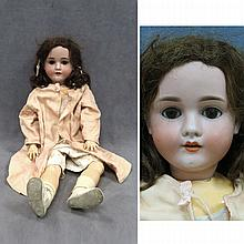 KLEY & HAHN BISQUE SOCKET HEAD DOLL