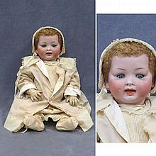 VINTAGE GERMAN BISQUE SOCKET HEAD DOLL