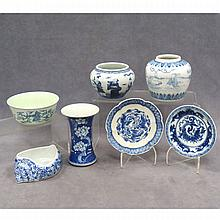 LOT (7) ASSORTED CHINESE DECORATED PORCELAINS