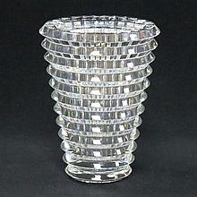 BACCARAT CRYSTAL EYE VASE, SIGNED