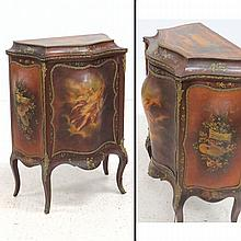 FRENCH VERNE MARTIN STYLE MUSIC CABINET