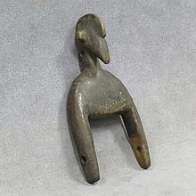 SENUFO, IVORY COAST CARVED HEDDLE PULLEY