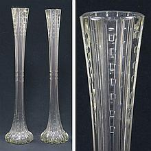 PAIR CUT CRYSTAL VASES