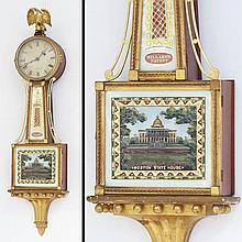 FINE CARVED AND GILT BANJO CLOCK, MARKED