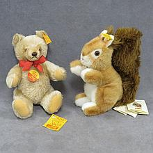 LOT (2) STEIFF INCLUDING SQUIRREL AND BEAR