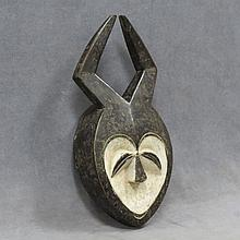 FANG/PANGWE, R.O.C. CARVED AND PAINTED HORNED MASK