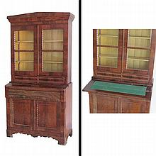 EMPIRE MAHOGANY SECRETARY, 19TH CENTURY