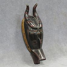 GURO, IVORY COAST CARVED IMPALA PASSPORT MASK