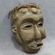 CHOKWE, R.O.C. OVERSIZE CARVED CEREMONIAL MASK