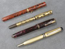 LOT (4) WATERMAN'S, PARKER & MONT BLANC PENS