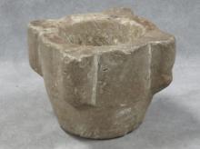 BYZANTINE CARVED ALABASTER MORTAR, C.1000 AD