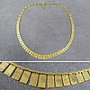 14K YELLOW GOLD PANEL FRINGED NECKLACE
