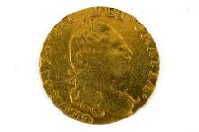 1778 ENGLISH GEORGE III GOLD HALF GUINEA COIN. 19 MM; 4.0 GRAMS