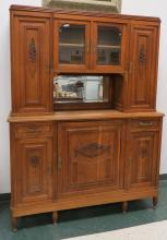 CONTINENTAL CARVED OAK SIDE BOARD, C.1920. HEIGHT 78