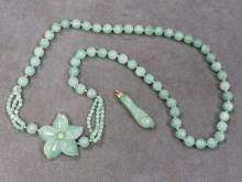 LOT (2) SERPENTINE BEADED NECKLACE