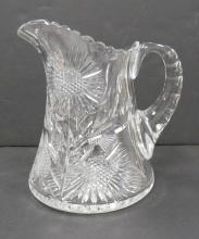AMERICAN (POSSIBLY TUTHILL) CUT GLASS PITCHER