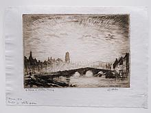 LESTER GEORGE HORNBY (AMERICAN 1882-1956), ETCHING