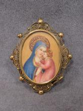 LATE VICTORIAN MINIATURE PAINTING, MADONNA