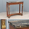 NEO CLASSICAL STYLE MARBLE-TOP CONSOLE TABLE