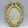 VINTAGE GAR GILT CAST IRON HANGING FRAME