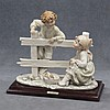 BRUNO MERLI PORCELAIN FIGURE, GIRL AND BOY