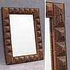 FOLK/TRAMP ART FRAMED MIRROR