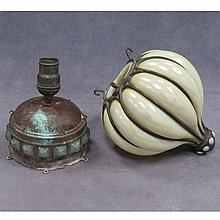 LOT (2) INCLUDING TIFFANY STYLE BLOWN OUT SHADE