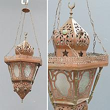 EGYPTIAN COPPER MOSQUE LAMP