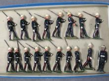 SET (18) PAINTED LEAD ROYAL MARINES MARCHING DETAIL