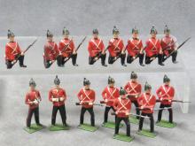 LOT (16) BRITAINS ROYAL SUSSEX REGT SOLDIERS