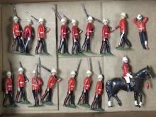 LOT (17) PAINTED LEAD ROYAL MARINES MARCHING DETAIL