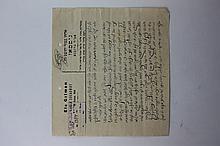 Letter by Rabbi Eliyahu Gittman to Rabbi Chaim Ozer Grodzinsky – 1929