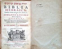 A Hebrew Bible - Biblia Hebraica – Amsterdam [Utrecht] 1705