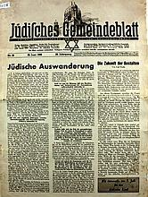 Weekly of the Jewish Community of berlin ? 26.6.1938 ? Et Tzara Le'Ya'akov ? Rare