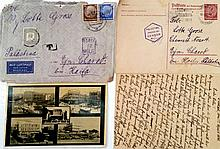 Correspondence between a Jewish Family from Germany and Their Daughter who Immigrated to Israel with the Youth Aliyah to Kibbutz Ein Charod ? 1938 and Onward ? Many Interesting letters