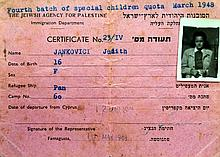 Certificate for a Girl from the Detention Camp in Cyprus ? 1948