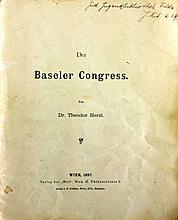 The Basel Congress, by Theodore Herzl ? Vilna 1897 ? end of the first Zionist congress ? German ? rare!