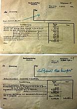 5 Nazi Documents about the Theft of the Property of Baron Oigen de-Rothschild ? Vienna 1944 ? Important, Interesting and Most Rare!
