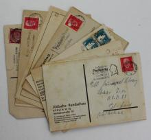 Collection of about 50 Letters and Postcards, most of them sent to Dr. Elyakum Heinrich Loewe, one of the First Librarians in Israel – One of the Letters is Addressed to Gershom Shalom, one of the Greatest Jewish Kabbala Researchers – Most of the Letters were sent from Germany, the Thirties – German and Hebrew