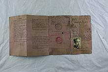 Work Certificate of a Jew in the Holocaust ? Lvov Ghetto