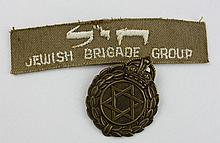 Cloth Tag and a Badge of a Military Rabbi of the Jewish Brigade of the British Army – World War II