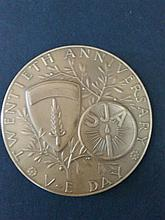 Bronze Medal – 20th Anniversary of the Victory Day of World War II, 8.5.1965 – the UJA (United Jewish Association)