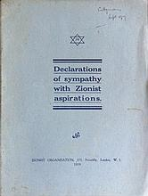 3 important Zionist Booklets – London 1919 – English and Hebrew – Including a Booklet about Well-Known Gentiles ' Support of Zionism
