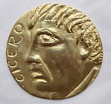 Gold Medal, Private issuing, work of an artist, the image of Cicero
