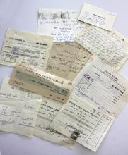 A Collection of Letters and Receipts with Signatures of Great Rabbis