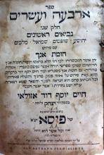 Chomat Anach by the Chida on Tehilim and Nevi'im Rishonim - Pisa, 1803 - First Edition